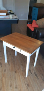 End table entry table rustic refurbished