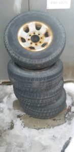 8 bolt winter tires and rims 265/75/16