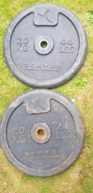 Cast iron heavy weights Gym (non Olympic)