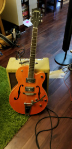 Gretsch 5120 electromatic and fender blues junior rig
