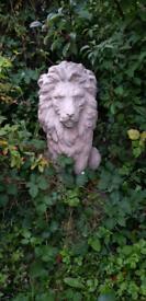 Lion statues pair
