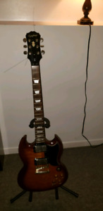 Epiphone sg 400 limited edition with roland amp