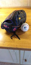 Baseball and clove.