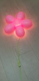 IKEA SMILA PINK FLOWER WALL LIGHT
