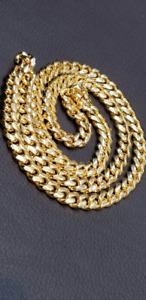 Heavy Miami Cuban chain 10k Italian gold