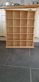 John Lewis Natural Rubber Wood CD Storage Unit