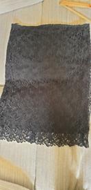 Lace black pencil skirt size 16