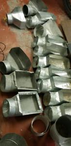 Galvanized duct parts