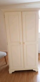 Pine painted wardrobe