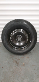 Corsa D spare wheel with new tyre