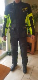 Jet motorcycle jacket & trousers. Waterproof