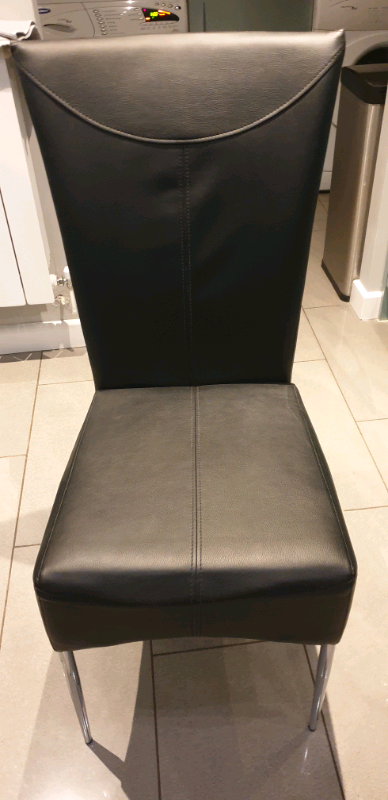 Cool Black Faux Leather Dining Chairs In Neath Neath Port Talbot Gumtree Pabps2019 Chair Design Images Pabps2019Com