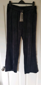NEW, Adidas Originals women's black tracksuit bottoms - L