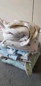 Baby sleeping sacks and onsies