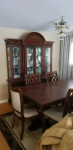 Cheap dining table and buffet hutch