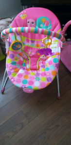 Pink Baby Vibrating bounce chair