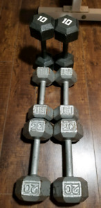 Hex Dumbbell Set. 10lbs to 60lbs. 450lbs total.