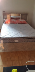 Queen Size Bed with Box Storage