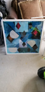 Wall framed in glass decor