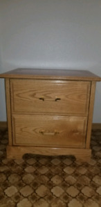 Set of 2 solid wood bedside tables