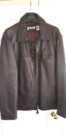 Schott NYC leather jacket XL
