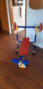 Redmon Fun and Fitness Exercise Equipment for Kids -Weight Bench
