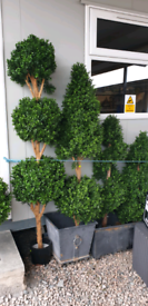 New 4ft & 5ft Artificial Twisty trees and bay trees