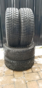 4x 195 65 15 Winter Tires on VW rims 5×112