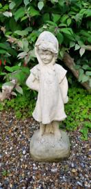 Stone Garden Statue - Cheeky Girl