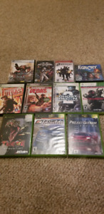 Bunch of games (xbox, xbox 360, PSP and pc)