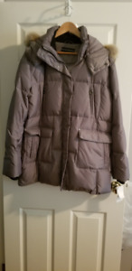 Women's BIANCA NYGARD - Winter Jacket - NEW -  SILVER/TAUPE