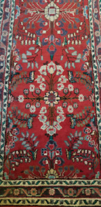 BEAUTIFUL RED PERSIAN RUG RUNNER IN PERFECT SHAPE
