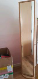 Full length ikea swivel mirror with storage