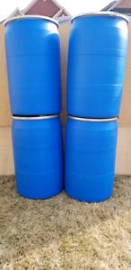 58 Gallon FOOD GRADE plastic barrels-brampton