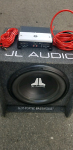 JL Audio subwoofer and amplifier.