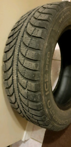 4 GT Radial Champiro Icepro Used Winter Tires Size 185/65R14