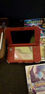 Nintendo 3DS XL with case and 3 games!