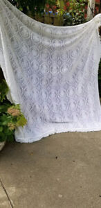Vintage Double Sized Crocheted Bedspread/Bed Linens Portugal