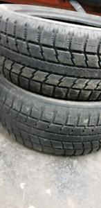 2x Winter tires 235/55/18 tread 6/32