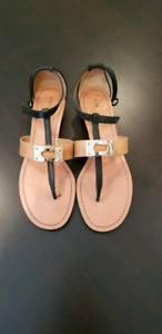 COACH Caterine Logo Hardware Flat Sandals