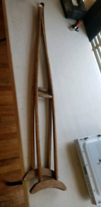Antique wood crutches $25