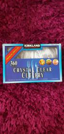 Kirkland Crystal Clear Cutlery 360 pieces