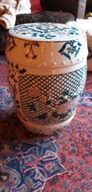 Stool ceramic garden