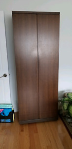 Wood wardrobe, bookcase or office storage