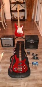 Guitare électrique et bass