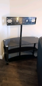 Heavy duty tv stand with mount and brackets
