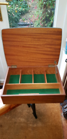Vintage 1950's Wooden Sewing Box