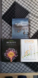 Campbell biology, life science calculus, stats