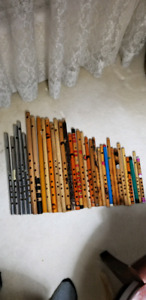Assorted Indian flutes for sale