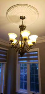 Ceiling light great condition 6 shades .